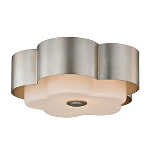 Allure 2 Light Flush Mount By Troy C5652 in Silver Leaf Finish