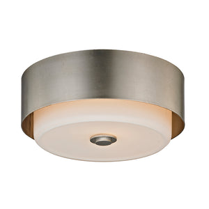 Allure 2 Light Flush Mount By Troy C5662 in Silver Leaf Finish