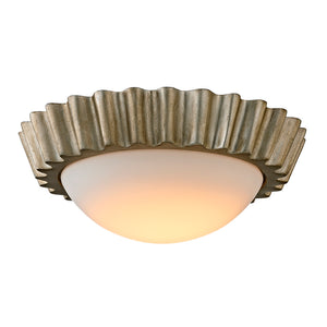 Reese 1 Light LED Flush Mount By Troy C5920 in Silver Leaf Finish