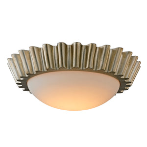 Reese 1 Light LED Flush Mount By Troy C5921 in Silver Leaf Finish