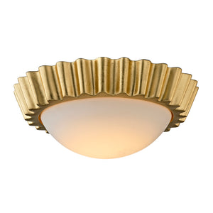 Reese 1 Light LED Flush Mount By Troy C5930 in Gold Leaf Finish