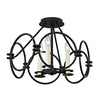 Juliette 3 Light Flush Mount By Troy C5953 in Country Iron Finish