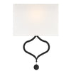 Crystorama DER-401-BF Derby 2 Light Black Forged Wall Mount