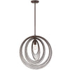 Crystorama DOR-B7711-FB Doral 1 Light Forged Bronze Pendant