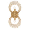 Crystorama DOR-B7722-RG Doral 2 Light Renaissance Gold Wall Mount