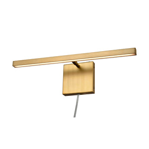 Maud LED 1 Light Plug-In Sconce in Brass by DVI Lighting DVP44816BR