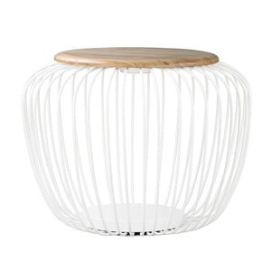 ET2 E20578-WTNW Cage Floor Lamp in White / Navaho White