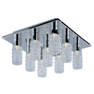 ET2 E20770-18PC Polka 9-Light LED Flush Mount in Polished Chrome