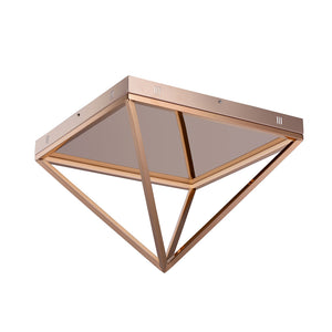 ET2 E20812-RG Pyramid LED Flush Mount in Rose Gold