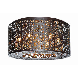 ET2 E21300-10BZ Inca 7-Light Flush Mount in Bronze