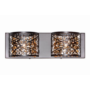 ET2 E21315-10BZ/BUL Inca 2-Light Wall Mount W/LED Bulb in Bronze