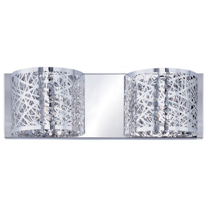 ET2 E21315-10PC/BUL Inca 2-Light Wall Mount W/LED Bulb in Polished Chrome