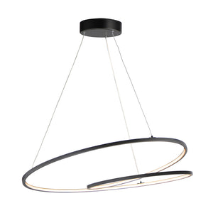 Cycle 1 Light LED Single Pendant in Black Finish by ET2 E21327-BK