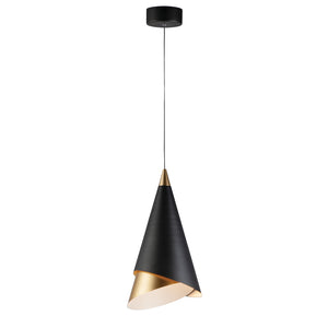 ET2 E21448-BKMG Mermaid LED 1-Light Pendant in Black / Metallic Gold