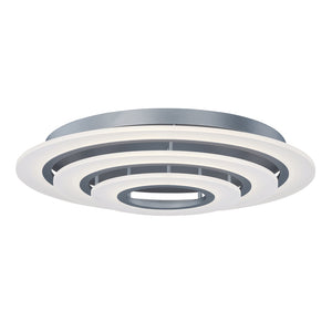 ET2 E22667-11MS Saturn II LED 3-Light Flush Mount in Matte Silver