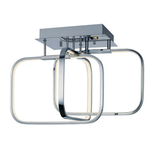 ET2 E24551-PC Squared LED Flush Mount in Polished Chrome