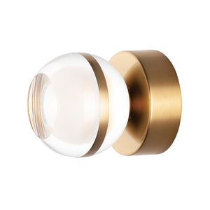 ET2 E24590-93NAB Swank LED 1-Light Wall Sconce/Flush Mount in Natural Aged Brass