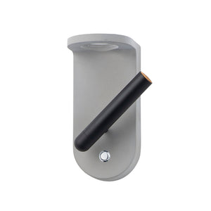 ET2 E25015-GYBK Beacon LED Wall Sconce in Gray / Black