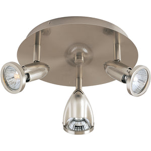 ET2 E30001-10SN Agron 3-Light Flush Mount in Satin Nickel
