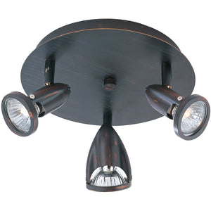 ET2 E30011-10BZ Agron 3-Light Flush Mount in Bronze