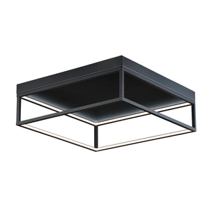 ET2 E30598-BK 4 Square Flush Mount in Black