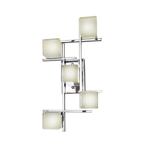 ET2 E31201-75PC Nova LED 5-Light Flush Mount/Wall Mount in Polished Chrome