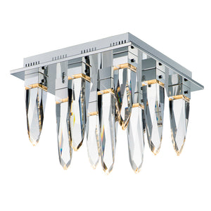 ET2 E31249-20PC Quartz LED 9-Light Flush Mount in Polished Chrome