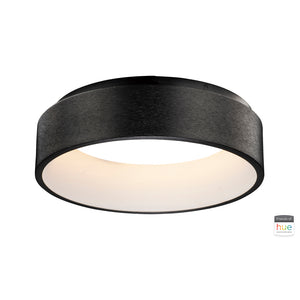 ET2 E31252-BBK iQ LED Flush Mount with Philips Hue in Brushed Black