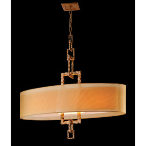 Link 4 Light Island Light By Troy F2878 in Bronze Leaf Finish