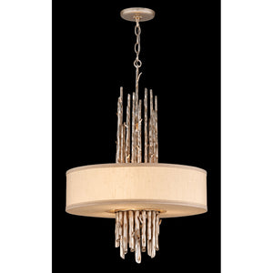 Adirondack 3 Light Pendant By Troy F2894 in Silver Leaf Finish