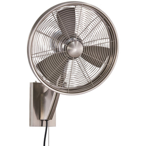 "Anywhere 15.5"" Outdoor Oscillating Fan Ceiling Fan In Brushed Nickel by Minka Aire F307-BN"