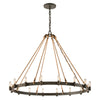 Pike Place 16 Light Pendant By Troy F3127 in Shipyard Bronze Finish