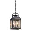 Chamberlain 3 Light Pendant By Troy F5087 in Vintage Bronze Finish