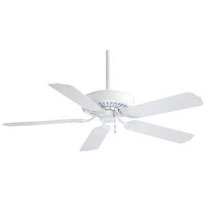 "Sundance 52"" Ceiling Fan In White by Minka Aire F571-WH"
