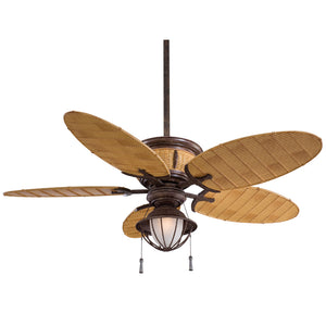 "Shangri-La 52"" Ceiling Fan In Vintage Rust by Minka Aire F580-VR/BB"