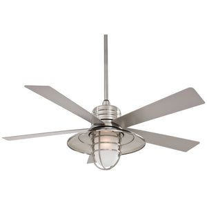 "Rainman 54"" Ceiling Fan In Brushed Nickel Wet by Minka Aire F582-BNW"