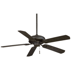 "Sundowner 54"" Ceiling Fan In Black Iron W/ Aged Iron Accents by Minka Aire F589-BI/AI"
