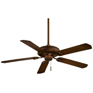 "Sundowner 54"" Ceiling Fan In Mossoro Walnut by Minka Aire F589-MW"