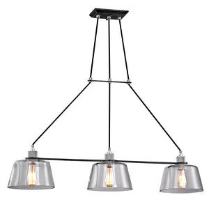 Audiophile 3 Light Island Light By Troy F6154 in Old Silver Polished Aluminum Finish