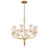 Juniper 8 Light Chandelier By Troy F6168 in Textured Gold Leaf Finish