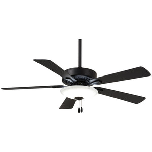 "Contractor 52"" LED Ceiling Fan In Coal by Minka Aire F656L-CL"