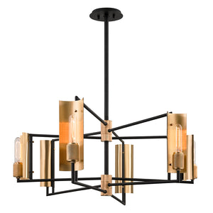 Emerson 6 Light Island Light By Troy F6786 in Carbide Blk & Brushed Brass Finish