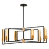 Emerson 6 Light Island Light By Troy F6787 in Carbide Blk & Brushed Brass Finish