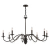 Poppy Hill 8 Light Pendant By Troy F6826 in Pompeii Silver Finish