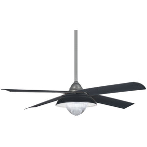 "Shade 56"" LED Ceiling Fan In Grey Iron by Minka Aire F683L-GI"