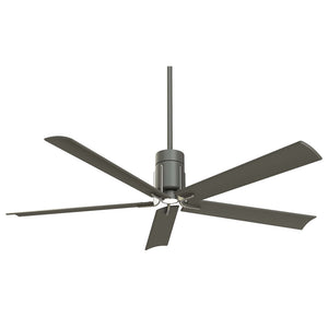 "Clean 60"" LED Ceiling Fan In Grey Iron/Brushed Nickel by Minka Aire F684L-GI/BN"