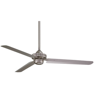 "Steal 54"" Ceiling Fan In Brushed Nickel by Minka Aire F729-BN"