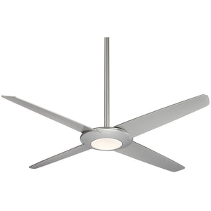 "Pancake Xl 62"" LED Ceiling Fan In Silver by Minka Aire F739L-SL"