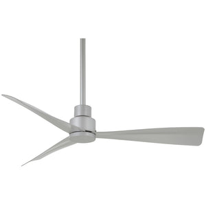 "Simple 44"" Ceiling Fan In Silver by Minka Aire F786-SL"