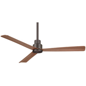 "Simple 52"" Outdoor Ceiling Fan In Oil Rubbed Bronze by Minka Aire F787-ORB"